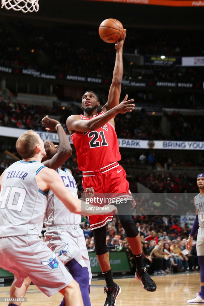 Thaddeus Young of the Chicago Bulls shoots the ball against