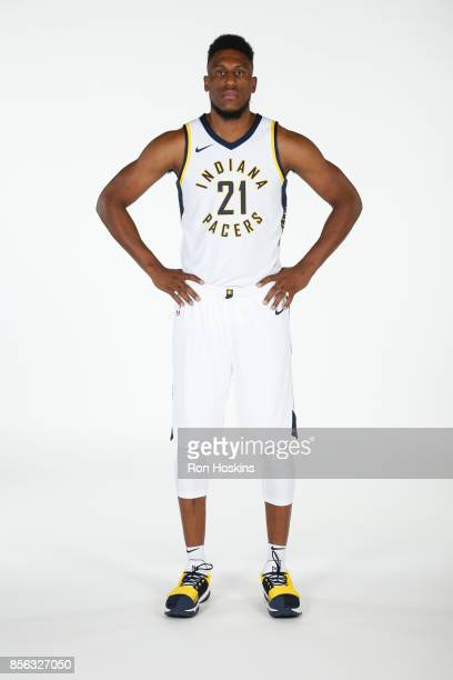 Thaddeus Young of the Indiana Pacers poses for a portrait during the Pacers Media Day at Bankers Life Fieldhouse on September 25 2017 in Indianapolis...