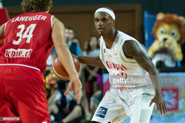 Thaddus McFadden of Georgia drives the ball during the FIBA Basketball World Cup Qualifier match between Georgia and Austria at Tbilisi Sports Palace...