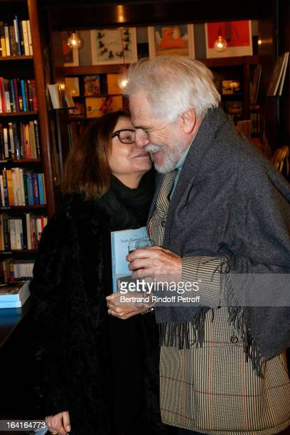 "Thadee Klossowski De Rola and Bettina Rheims attend the book signing of ""Dream Life"" by Thadee Klossowski De Rola at Galignani Bookstore in Paris,..."