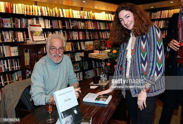 Thadee Klossowski De Rola and his daughter Anna Klossowska De Rola attend the book signing of 'Dream Life' by Thadee Klossowski De Rola at Galignani...