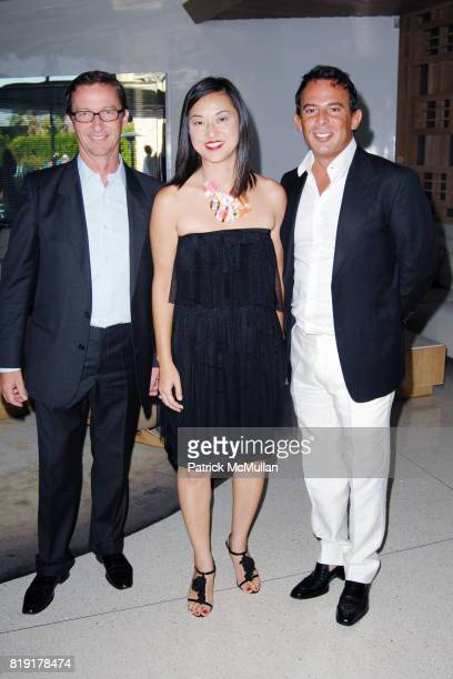 Thadeus Ropac Christine Y Kim and Eugenio Lopez attend The First Annual Benefit Hosted By Los Angeles Nomadic Division at Private Residence on July...