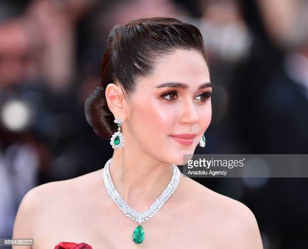 Thai actress Araya Chompoo arrives for the film The Meyerowitz Stories in competition at the 70th annual Cannes Film Festival in Cannes France on May...