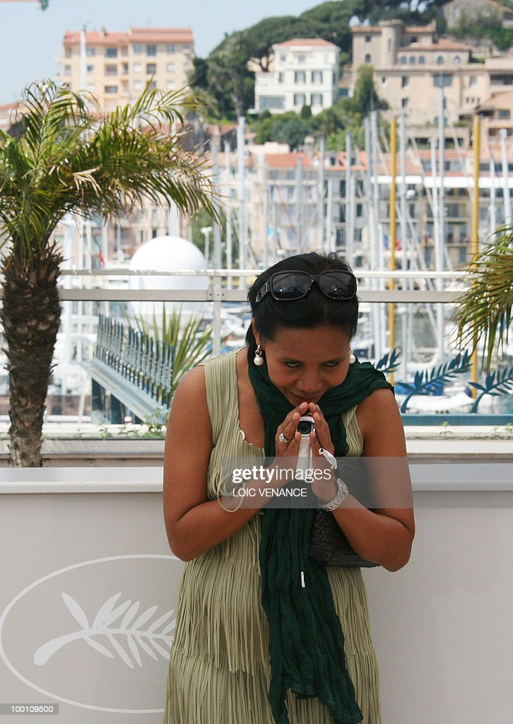 Thai actress Wallapa Mongkolprasert poses during the photocall 'Lung Boonmee Raluek Chat' (Uncle Boonmee Who Can Recall His Past Lives) presented in competition at the 63rd Cannes Film Festival on May 21, 2010 in Cannes.