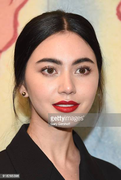 Thai acytress Davika Hoorne attends the Michael Kors fashion show during New York Fashion Week at Vivian Beaumont Theatre on February 14 2018 in New...