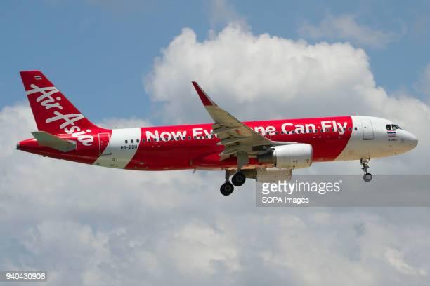 Thai AirAsia Airbus A320 landing at Phuket