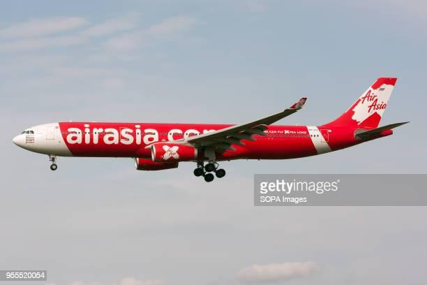 Thai AirAsia X Airbus 330300 on final at Tokyo Narita airport