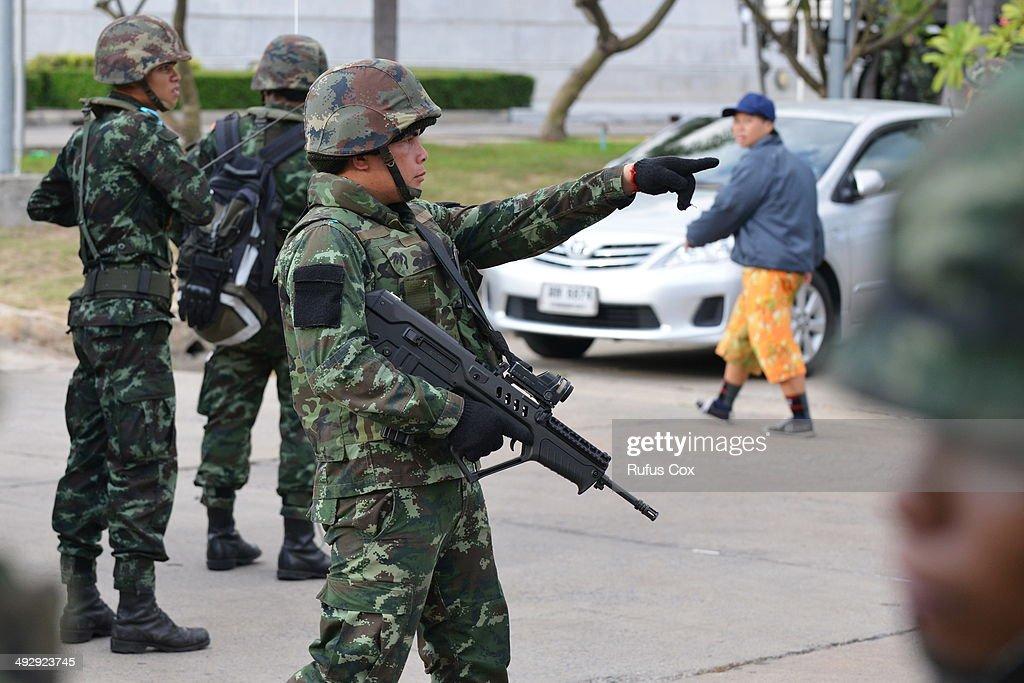 Thailand Coup D'etat As Military Seize Control : News Photo