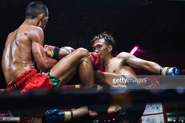 Thai boxing international combat between Archao Sitwungluang vs Jaorang in 60kg category during Muaythai Monday Evening International Thai Boxing...