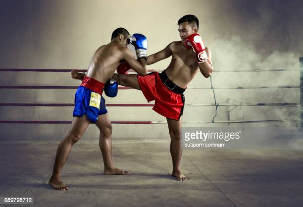 thai boxing muay thai - muay thai stock pictures, royalty-free photos & images