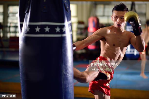 thai boxing training - muay thai stock pictures, royalty-free photos & images