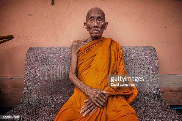 Thai Buddhist monk Luang Pho Malai 91 years old rests at his Buddhist monk quarters at Wat Chang For the past 30 years Luang Pho Malai has made his...