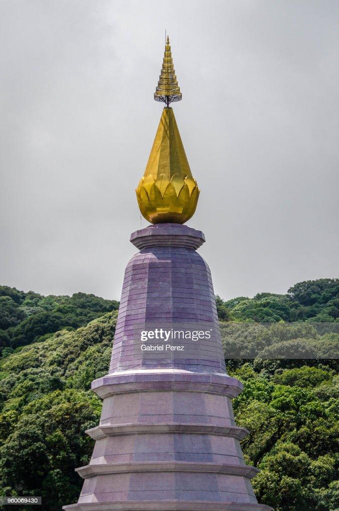 A Thai Chedi in Chiang Mai : Stock-Foto