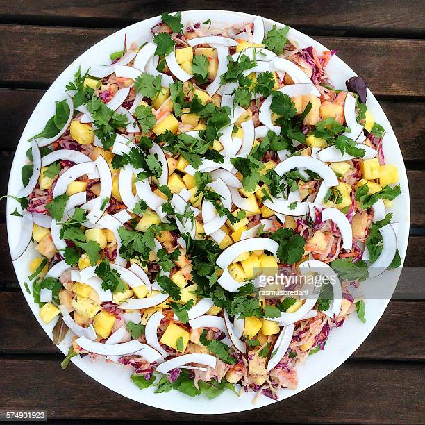 Thai coleslaw with mango and coconut