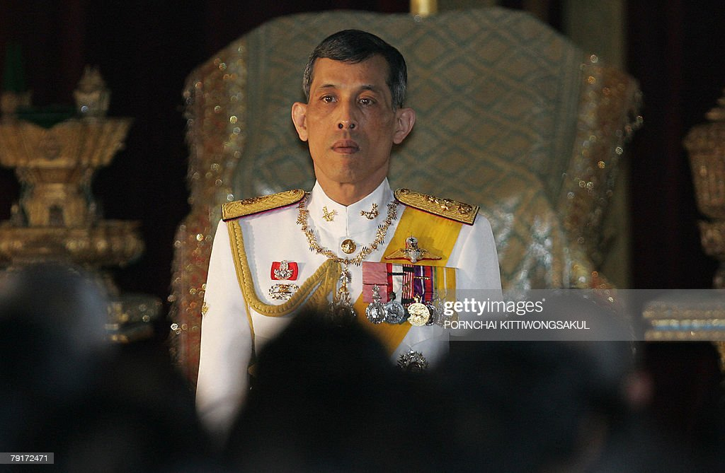 Thai Crown Prince Maha Vajiralongkorn reads statements during the opening session of the parliament at the parliament House in Bangkok, 21 January 2008. Thailand's crown prince officially opened the parliament, where an elected legislature will sit for the first time since a military coup ousted Thaksin Shinawatra in September 2006. AFP PHOTO/Pornchai KITTIWONGSAKUL