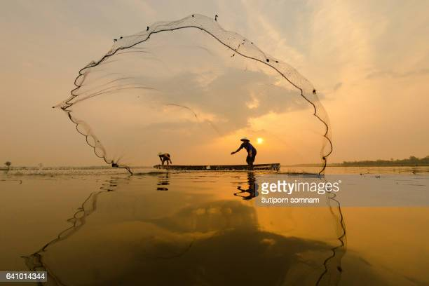 Thai culture fisherman
