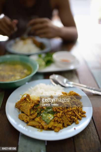 Thai curry and rice breakfast