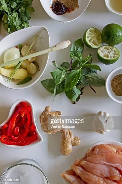 Thai curry chicken ingredients