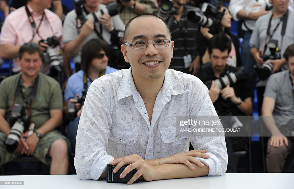 Thai director Apichatpong Weerasethakul poses during the photocall 'Lung Boonmee Raluek Chat' (Uncle Boonmee Who Can Recall His Past Lives) presented in competition at the 63rd Cannes Film Festival on May 21, 2010 in Cannes.