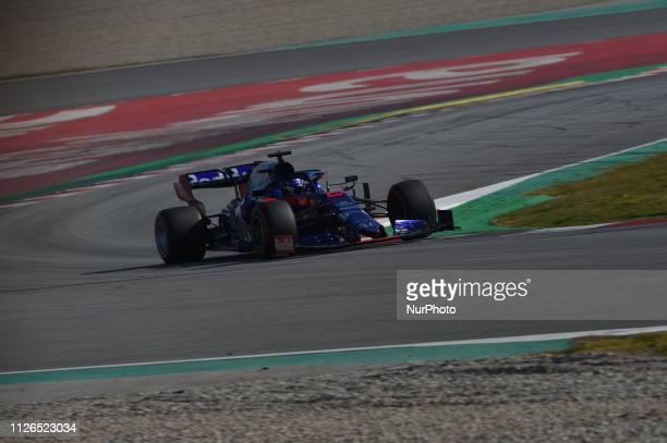 Thai driver Alexander Albon of Italian team Red Bull Toro Rosso Honda driving his singleseater STR14 during Barcelona winter test in Catalunya...