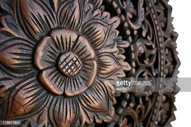 Thai flower carving