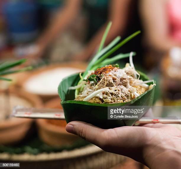 Thai Food in a banana leaf