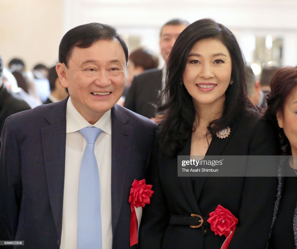 Thai Former Prime Ministers Thaksin And Yingluck Shinawatra Visit Japan
