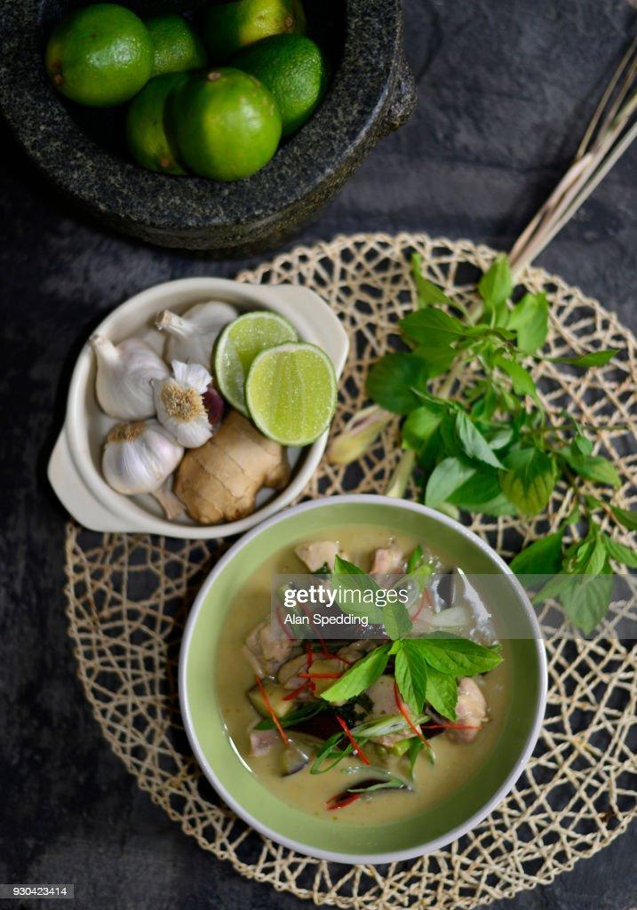 thai green curry : Stock Photo