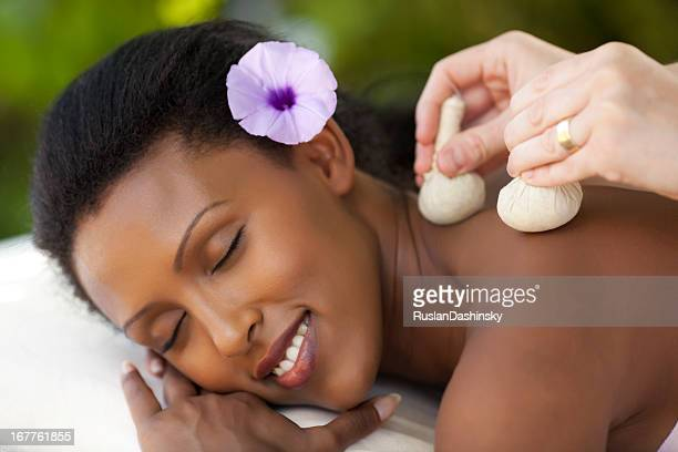Thai herbal ball massage.