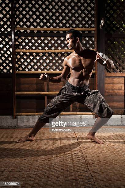 thai kick boxing training - muay thai stock pictures, royalty-free photos & images