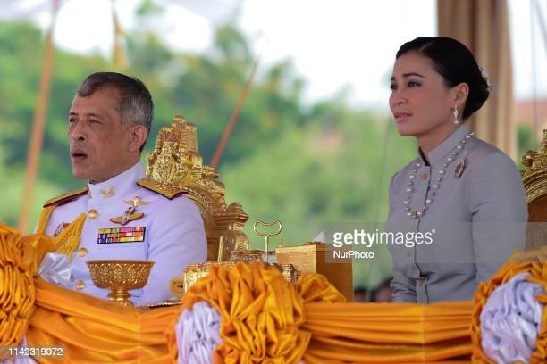 Thai King Maha Vajiralongkorn and Queen Suthida presides over the annual royal ploughing ceremony at the Sanam Luang park in Bangkok, Thailand. 09...