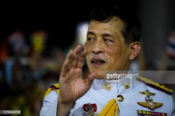 Thai King Maha Vajiralongkorn Bodindradebayavarangkun greet royalist supporters after a royal ceremony at the Grand Palace in Bangkok, Thailand, 01...
