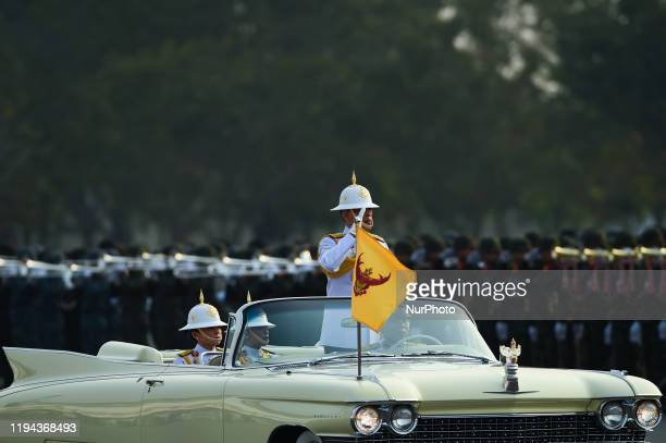 Thai King Maha Vajiralongkorn inspects the Guard of Honour on the Occasion of the Royal Coronation at the Royal Thai Army Cavalry Center at Adisorn...