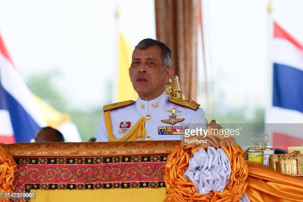 Thai King Maha Vajiralongkorn presides over the annual royal ploughing ceremony at the Sanam Luang park in Bangkok, Thailand. 09 May, 2019.