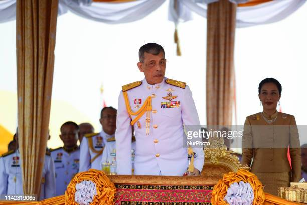 Thai King Maha Vajiralongkorn presides over the annual royal ploughing ceremony at the Sanam Luang park in Bangkok, Thailand. 09 May, 2019.