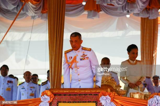 Thai King Maha Vajiralongkorn presides over the annual royal ploughing ceremony at the Sanam Luang park in Bangkok Thailand on May 14 2018