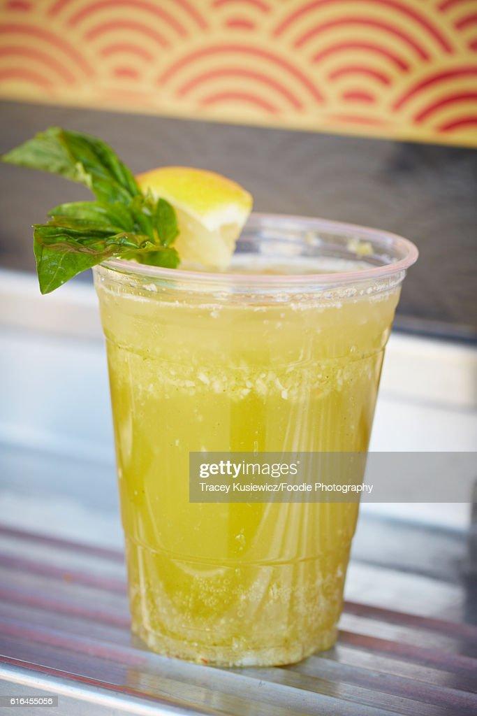 Thai Lemonade on food truck : Stock Photo