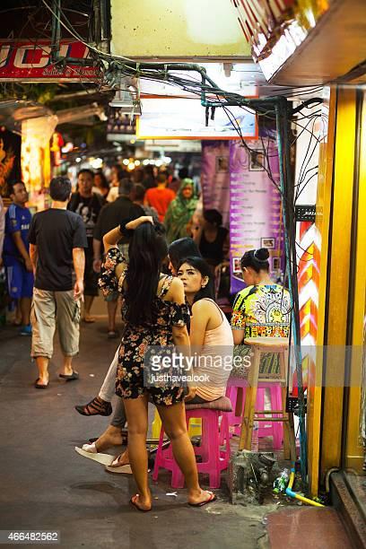 thai massage ladyboys - ladyboys of bangkok stock photos and pictures