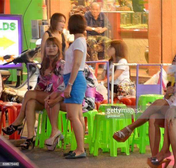 Thai masseuses along Soi Thaniya, Little Tokyo, Bangkok
