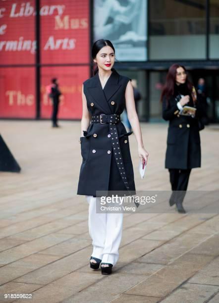 Thai model Davika Hoorne seen outside Michael Kors on February 14 2018 in New York City