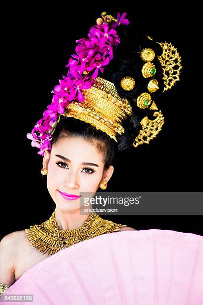 Thai Model in Traditional Ceremony clothing