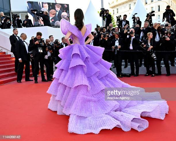 Thai model Sririta Jensen arrives for the screening of the film 'Rocketman' during the 72nd annual Cannes Film Festival in Cannes France on May 16...