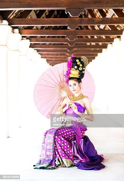 Thai Model with Umbrella