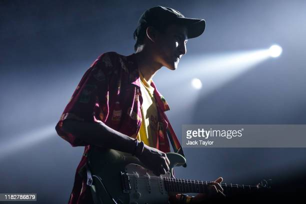 Thai musician Phum Viphurit performs on day one of the Maho Rasop Festival 2019 on November 16 2019 in Bangkok Thailand