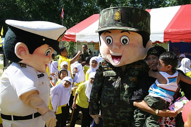 Thai navy mascotts greet thai muslim gir pictures getty images thai navy mascotts greet thai muslim gir m4hsunfo