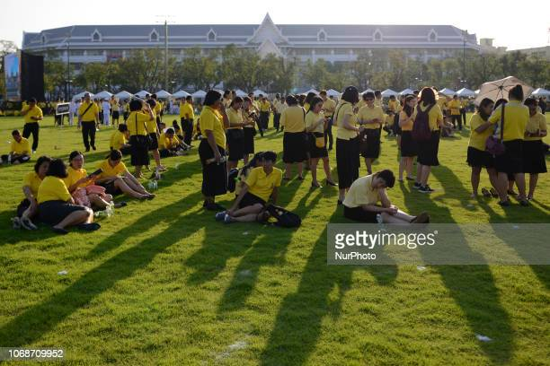 Thai people during as part of in memory of late Thai King Bhumibol Adulyadej on his birthday anniversary at Sanam Luang in Bangkok Thailand 05...