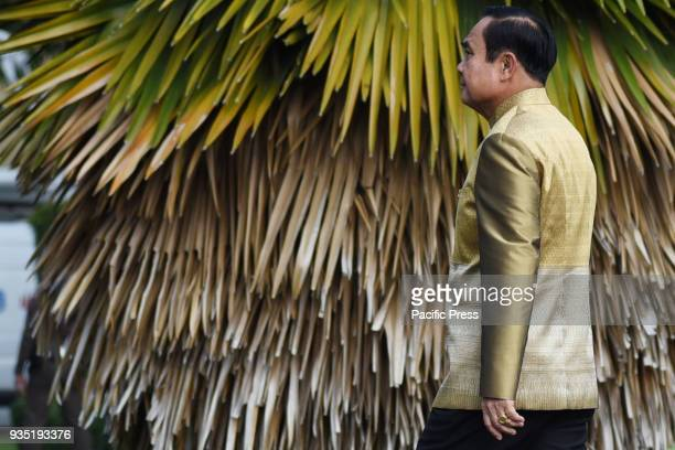 Thai Prime Minister Prayut Chanocha arrives for a weekly cabinet meeting at the Government House in Bangkok