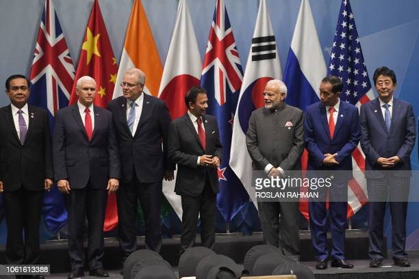 Thai Prime Minister Prayut ChanOCha US Vice President Mike Pence Australia's Prime Minister Scott Morrison Brunei Sultan Hassanal Bolkiah India's...