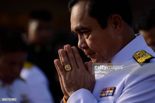 Thai Prime Minister Prayuth ChanOCha during as part of celebrate the Queens Sirikit' 85th birthday in Bangkok Thailand 12 August 2017