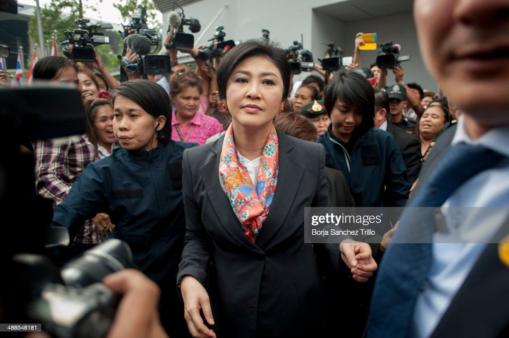 Court Orders Thai PM Yingluck Shinawatra To Step Down From Office : News Photo